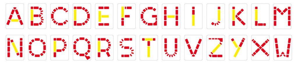 Carte da gioco alfabeto MATTO